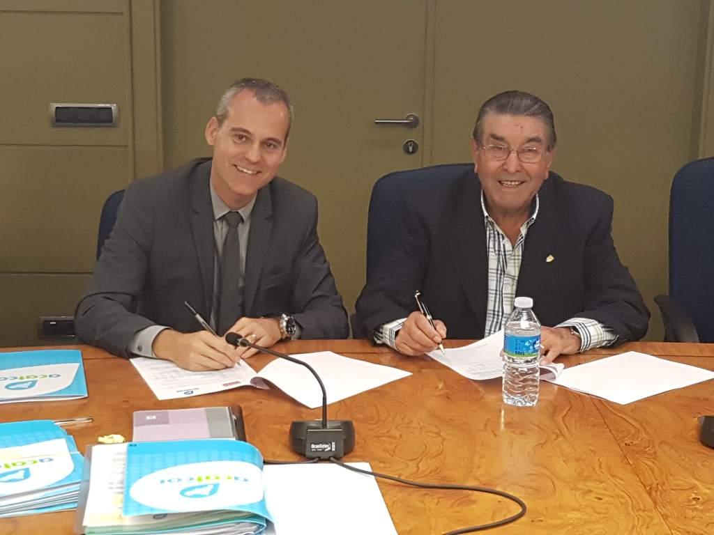 Signatura del conveni entre COPISA I ACATCOR